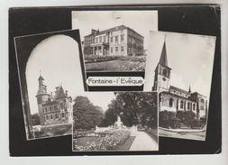 CPSM FONTAINE L'EVEQUE (Belgique-Hainaut) - 4 Vues - Fontaine-l'Evêque