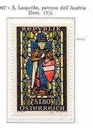 PIA - AUSTRIA -1967  : San Leopoldo Patrono Dell' Austria -  (Yv  1086) - Vetri & Vetrate