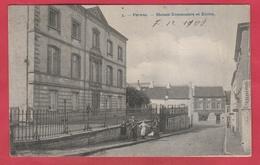 Perwez  - Maison Communale Et Ecoles  - 1909 ( Voir Verso ) - Perwez