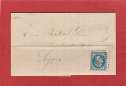 Loire - Saint Germain Laval - GC3639 Sur N°29 - LAC De 1869 - Marcophilie (Lettres)