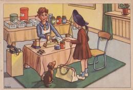 Dackel Teckel Dachshund  Hunde,Cani Chien  Girl  Old Dog Postcard - Chiens