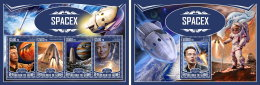 GUINEA REP. 2017 ** SpaceX Raumfahrt Espace Mars M/S+S/S - OFFICIAL ISSUE - DH1733 - Africa