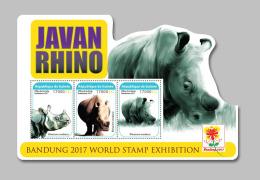 GUINEA REP. 2017 ** Javan Rhino Rhinoceros Nashorn M/S - IMPERFORATED - DH1733 - Rhinozerosse