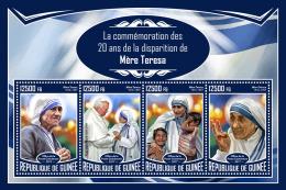 GUINEA REP. 2017 ** Mother Teresa Mutter Teresa Mere Teresa M/S - IMPERFORATED - DH1733 - Mother Teresa
