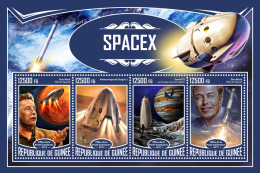 GUINEA REP. 2017 ** SpaceX Raumfahrt Espace Mars M/S - IMPERFORATED - DH1733 - Africa