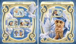 CHAD TCHAD 2017 ** Mother Teresa Mutter Teresa Mere Teresa M/S+S/S - OFFICIAL ISSUE - DH1733 - Mother Teresa
