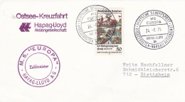 Ships: M/S Europa From The Hapag-Lloyd Line P/m Deutsche Schiffpost M/S Europa 1975  (T17-29) - Schiffe