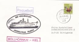 Ships: M/S Dalmacija From Jadrolinija Rijeka P/m Kiel 1979 (T17-29) - Schiffe