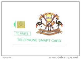 UGANDA  - Chip Phonecard/Coat Of Arms 20 Units  Issue Number 30,000 - Uganda