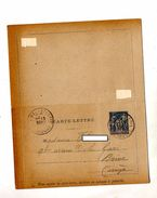 Carte Lettre 15 C Commerce Cachet Bauchellerie - Postal Stamped Stationery