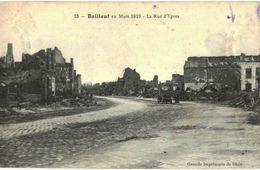 CPA N°7594 - BAILLEUL EN MARS 1919 - LA RUE D' YPRES - MILITARIA 14-18 - France