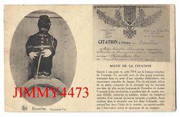 CPA - Le Manneken-Pis - Citation à L'Ordre Du Bataillon En 1919 - BRUXELLES - Edit. Nels  Série 1, N° 115 - Recto-Verso - Monuments, édifices