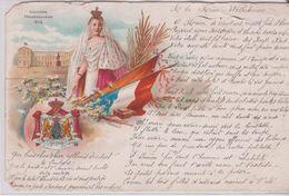 PAYS BAS . Reine WILHELMINE. SOUVENIR KRONNINGSJAAR 1808 ? (+ Poème Manuscrit à La Reine Wilhelmine ) Belle Illustration - Familles Royales