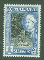 Malaya - Selangor: 1957/61   Sultan Hisamud-din Shah - Pictorial   SG124a    50c   [Perf: 12½ X 13]   MH - Selangor