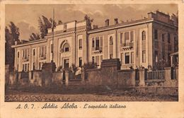 """06276 """"ETIOPIA - ADDIS ABABA - L'OSPEDALE ITALIANO""""   CART  SPED 1937 - Etiopia"""