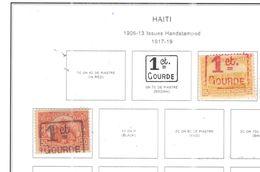 Haiti 1917/19 On 1906/13 Surch. Valori 2 Usati Scott 267+250 See Scans - Haiti