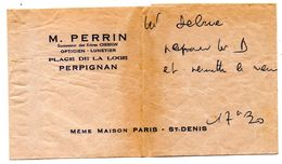Pochette Papier  Opticien Perpignan Maison Perrin - Publicités