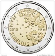 """Pièce 2 Euro Commémorative Finlande  UNC 2015 """"  Jean Sibellius """" - Finnland"""