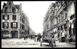 CPA ANCIENNE FRANCE- ARRAS (62)- RUE DE LA TAILLERIE ENTRE 2 PLACES- TRES BELLE ANIMATION GROS PLAN- ATTELAGES- VITRINE - Arras