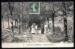 CPA ANCIENNE FRANCE- WIMEREUX (62)- VALLÉE DU DENACRE- PROMENEUSES SOUS LES ARBRES- TRES GROS PLAN- LANDAU AVEC BÉBÉ - Frankreich