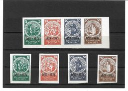 0957k: DR 1933, Nachdruck Nothilfeblock, Marken Ungezähnt, Fiktive Zusammendrucke + Einzelmarken, Fälschungen, Fakes - Blocks & Kleinbögen