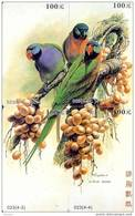 Bird PARROT Perroquet PAPAGAAI Papagei Oiseau (2) Puzzle Of 4 Phonecards - Puzzles