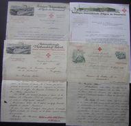 Fabrique Internationale D'objets De Pansement, Lot De 4 Lettres Avec Jolis En-tête De 1909 à 1930 - Switzerland