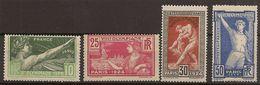 Yvert 183/186** Mnh  Juegos Olímpicos París  Serie Completa  1924  NL700 - France