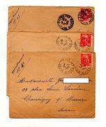 3 Lettre Cachet Vichy Entrepot Sur Gandon - Marcophilie (Lettres)
