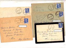 5 Lettre Cachet Maurs Du Cantal Sur Gandon - Marcophilie (Lettres)