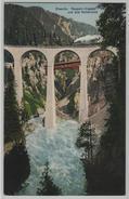 Disentis - Russein-Viadukt Und Alte Holzbrücke Mit Dampflok - Photo: E. Goetz - GR Grisons