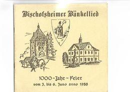 Catalogue 1988 Bischofsheimer   Hankellied  1000 Jahre - Catalogues