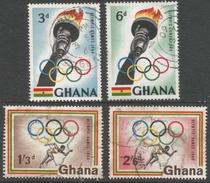 Ghana. 1960 Olympic Games. Used Complete Set. SG 249-252 - Ghana (1957-...)