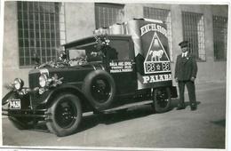 Vieille Automobile Voiture PRAGUE PRAHA Publicité Tchèque 1934 - Cars