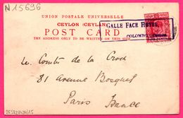Obl. GALLE FACE HOTEL COLOMBO - Ceylon - Natives Bautiques - Animée - THE COLOMBO APOTHERACIES Co Ltd - 1907 - Marcofilie (Brieven)