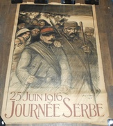 Affiche Steinlen 25 Juin 1916 Journée Serbe - Affiches