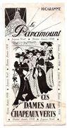 Programme Cinéma Le  Paramount  Paris - Pubblicitari