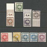 SBZ, Ziffern, Nr. 42 G - 50 G Gestempelt, Geprüft BPP - Sowjetische Zone (SBZ)