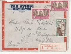 Lettre Recommandée De Noumea Pour Montpellier 1935. - France (ex-colonies & Protectorats)