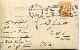 24220 Mexico , Circuled Card 1927 Frommexico To Italy - Mexiko