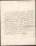Lettre De Henri Léonard Jean Baptiste Bertin De Paris Intendant Du Roussillon Pour Procureur De Perpignan Rovira Louis - Poststempel (Briefe)
