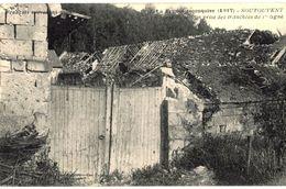 CPA N°7606 - FRANCE RECONQUISE 1917 - SOUTOUVENT - LA PORTE DU MOULIN PRISE DES TRANCHEES DE 1ere LIGNE- MILITARIA 14-18 - Andere Gemeenten