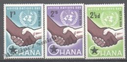 Ghana 1959 Yvert 29-31, United Nations Day - MNH - Ghana (1957-...)