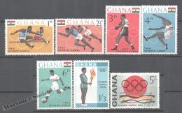 Ghana 1964 Yvert 171-77, Tokyo Summer Olympic Games - MNH - Ghana (1957-...)