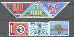 Ghana 1965 Yvert 216-21, Accra Summit Conference - MNH - Ghana (1957-...)