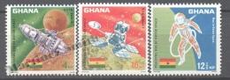 Ghana 1967 Yvert 293-95, Peaceful Use Of Outer Space - MNH - Ghana (1957-...)