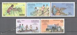 Ghana 1978 Yvert 609-13, Operation Feed Yourself - MNH - Ghana (1957-...)