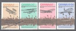 Ghana 1978 Yvert 622-25, 75th Anniversary First Flight, Overprinted CAPEX 78 - MNH - Ghana (1957-...)