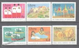 Ghana 1979 Yvert 646-51, Christmas, Songs & Scenes - MNH - Ghana (1957-...)