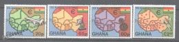 Ghana 1980 Yvert 684-87, 5th Anniversary Of ECOWAS - MNH - Ghana (1957-...)